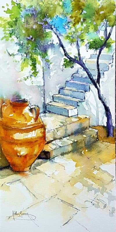Offering Painting Trips to Greece with artist Kathy Karas who specialises in watercolours.