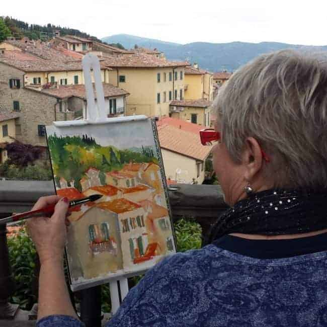 A trip to Italy with artist Kathy Karas who painted out trip in watercolour. Fantastic artworks from Cortona and Venice.