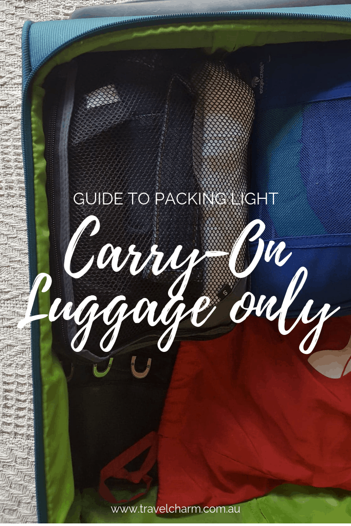 Taking carry-on luggage makes travelling a whole lot easier. No more dragging around large suitcases. #travel #traveltips #carryon #luggage #packing