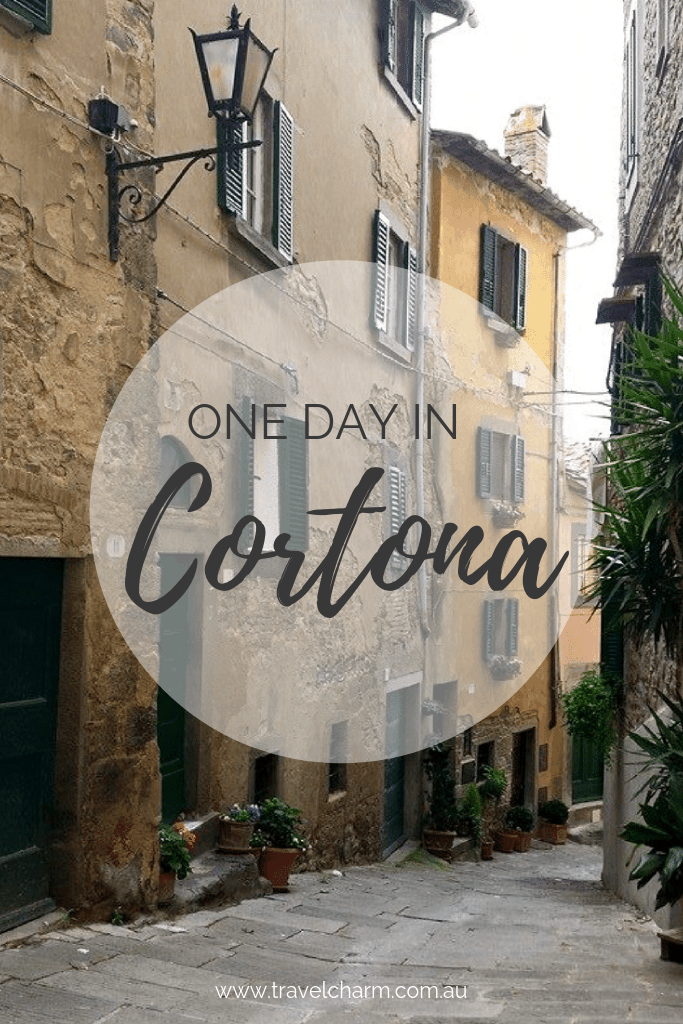 Cortona is the perfect day trip in Tuscany. #cortona #tuscany #italy