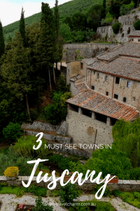 Three quaint villages in Tuscany everyone should include in their Italian itinerary. #tuscany #orvieto #montepulciano #cortona #tuscanvillages #pienza #italy