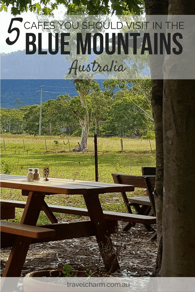 5 Cafes you should try on a trip to the Blue Mountains, Australia. All are great for breakfast, lunch and morning tea.