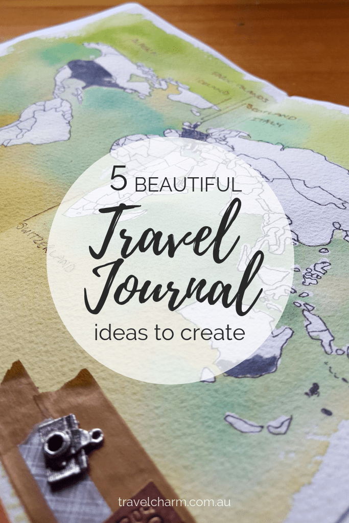 Get creative on your travels and create a travel journal. They are a way to capture those precious travel moments. #journal #sketchbook #creativetravel #traveljournal #journal