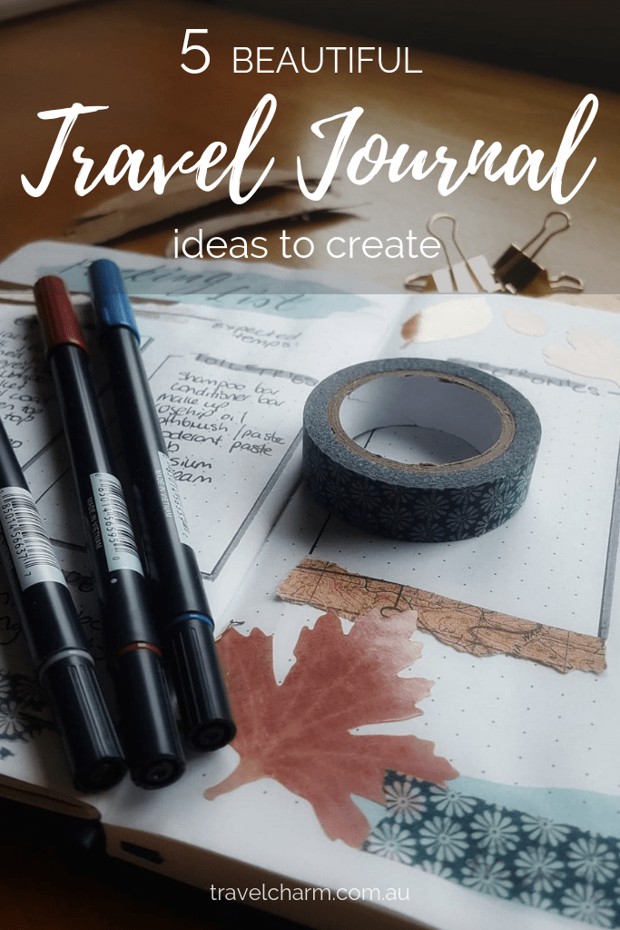 Travel Journals are a great addition to photos from your trip. They are a way to capture personal moments in travel. #journal #sketchbook #creativetravel #traveljournal #journal