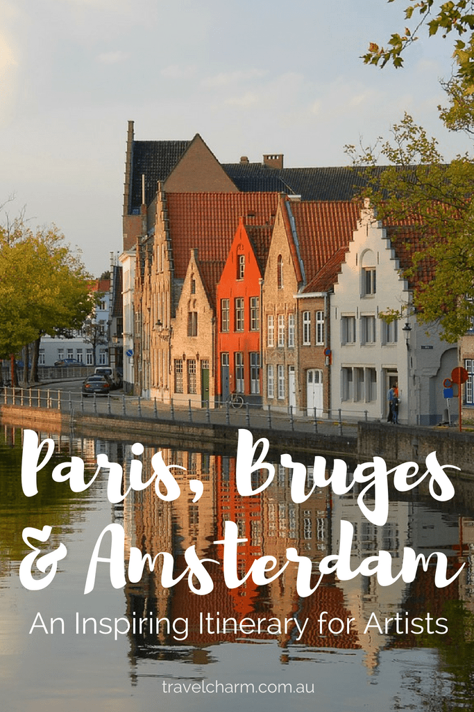 An itinerary for Paris, Bruges and Amsterdam. Perfect for creative and slow travel creating a beautiful watercolour journal as we go.