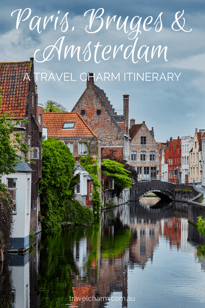 An itinerary for Paris, Bruges and Amsterdam. Perfect for creative and slow travel creating a beautiful watercolour journal as we go. #paris #bruges #amsterdam #creativetrips
