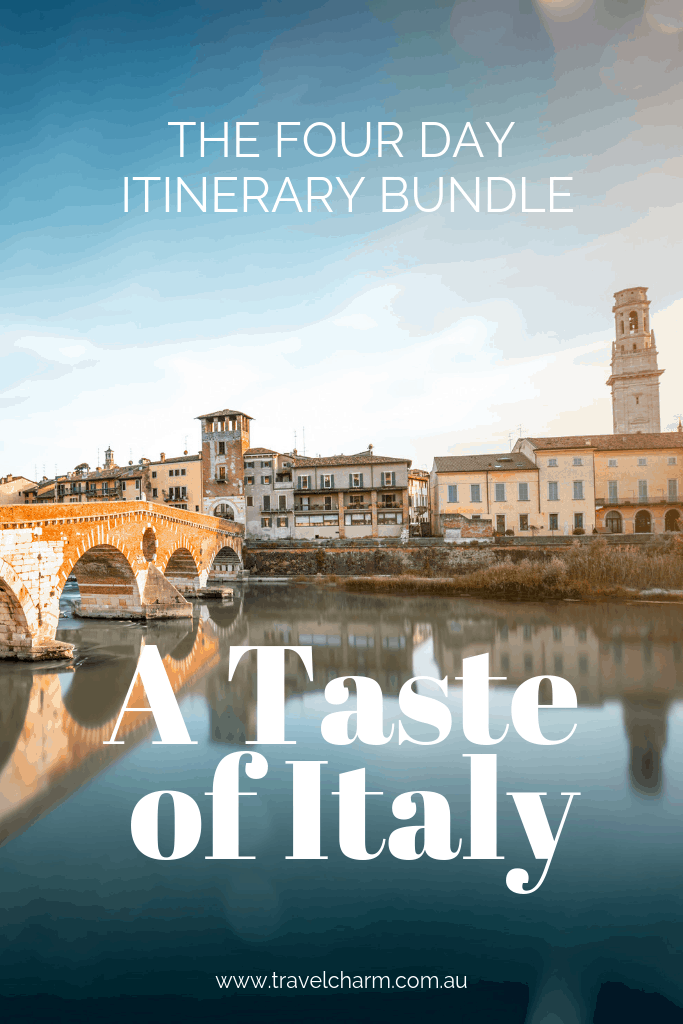 The Four Day Itinerary Italian Bundle - a preplanned, fully customisable itinerary. for travel in Florence, Bologna, Verona and Cortona #exploreitaly #verona #florence #tuscany