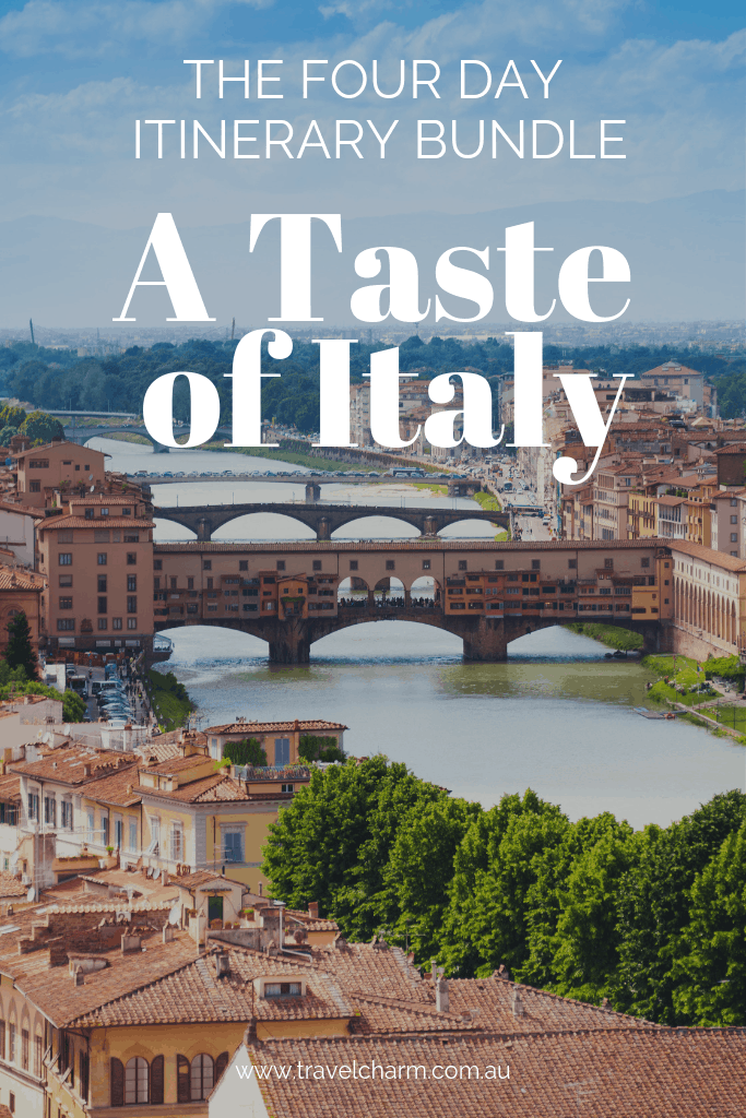 Four x Four Day Itineraries for Italy. Put them all together to create an itinerary - A Taste of Italy. #tuscany #verona #bologna #florence #itinerary