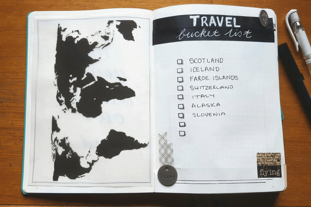 You don't need to be arty to enjoy creating a Travel Bullet Journal. #bulletjournal #traveljournal #journal