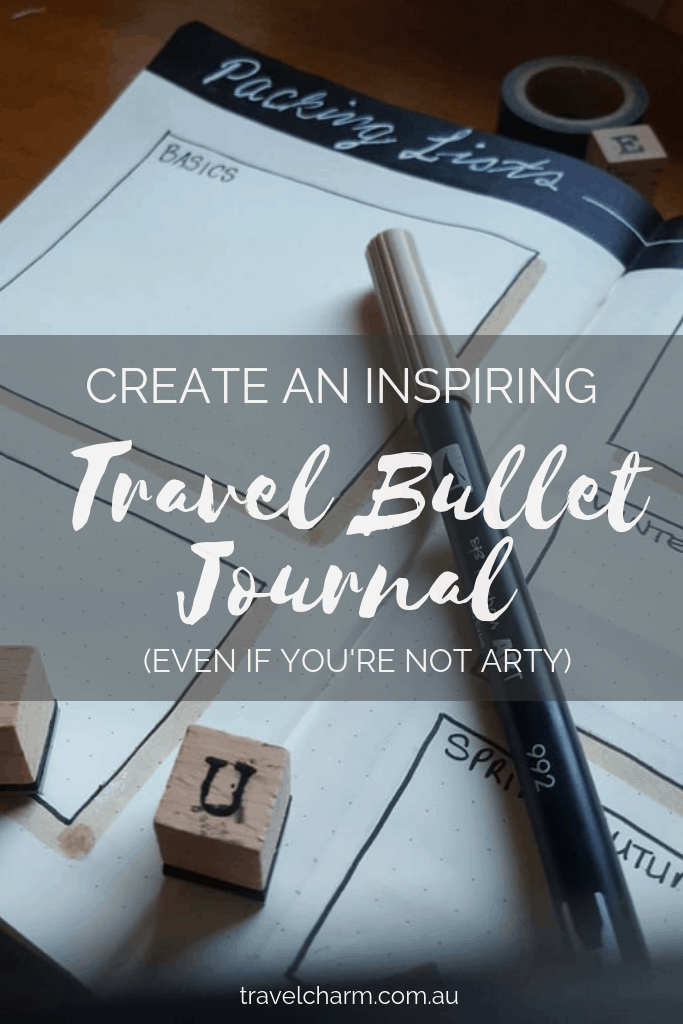 You don't have to be creative or arty to create a beautiful and functional Travel Journal. #bulletjournal #traveljournal #journal