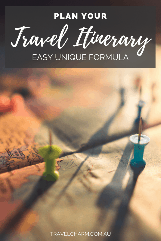 Planning a travel itinerary can be overwhelming. But not when you use this easy to follow unique formula #travelplanning #travelitinerary #itinerary