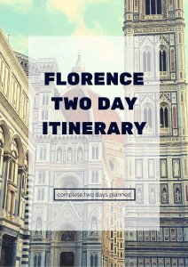 Florence Two Day Itinerary 2019