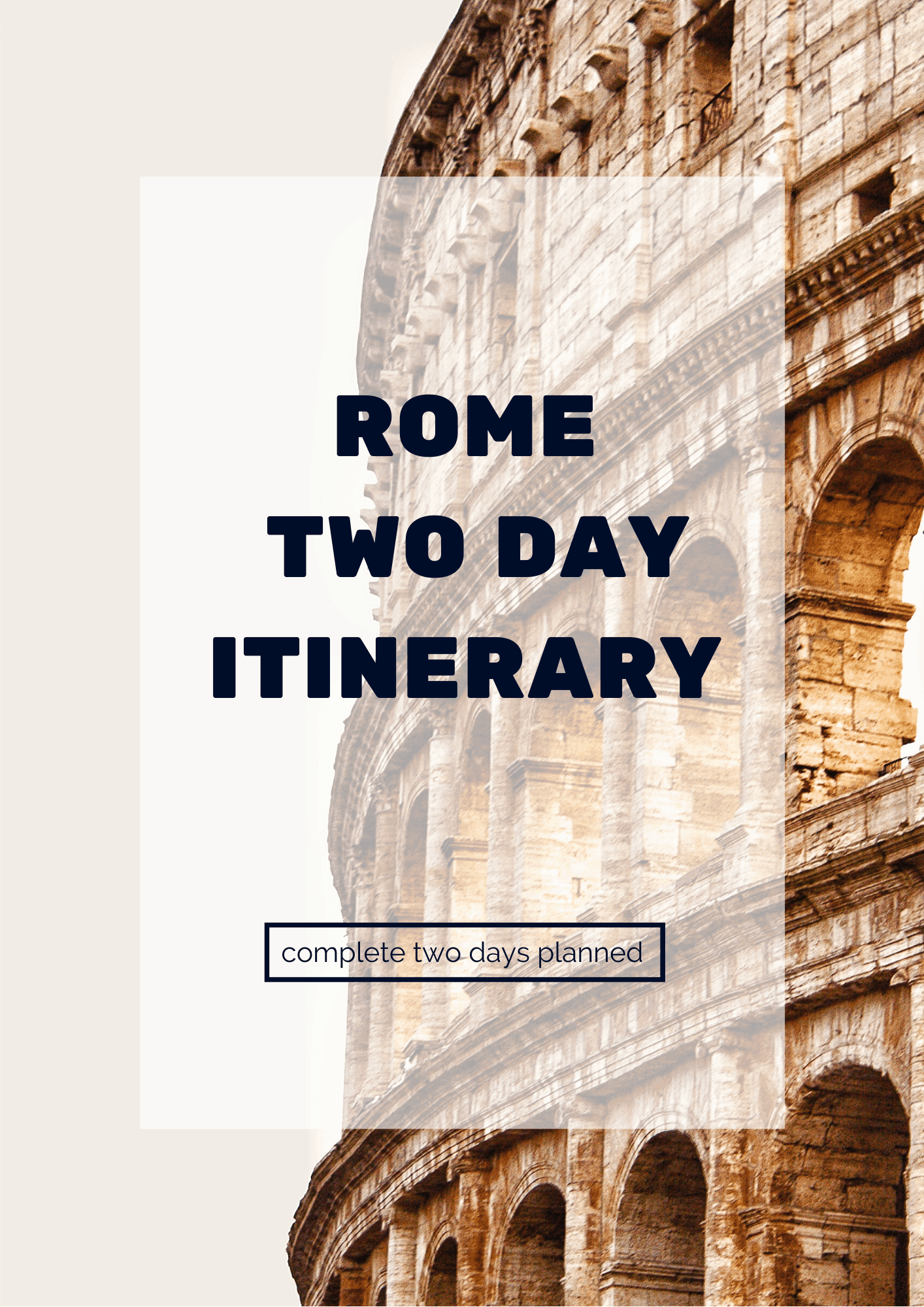 Rome Two Day Itinerary 2019