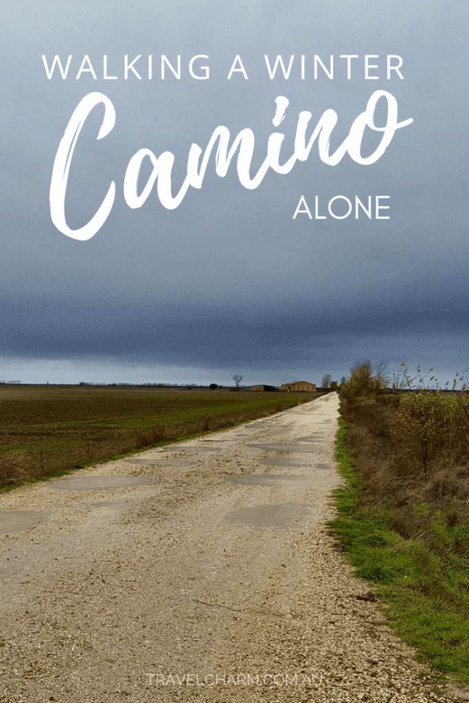 Walking a Winter Camino is very different to Summer. Find out what you need to know as a solo female traveller before you walk in winter. #camino #wintercamino #solocamino